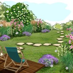 Projet aménagement jardin : Jardin résidence secondaire