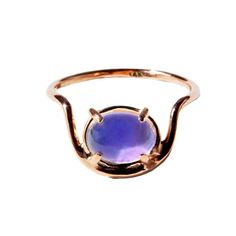 Think of this hand-crafted mood ring as the anti-tech accessory
