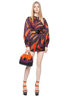 Zebra Print Volume Sleeve Dress