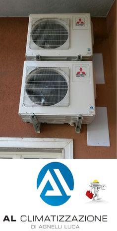 .....e quando il tecnico gioca con l'arte ! www.alclimatizzaz... Installazione #climatizzatori n.2 #Trial #attico e #superattico  #Brescia