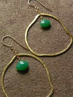 Faceted Chrysophrase and Organic Gold Vermeil by allisonmooney, $48.00
