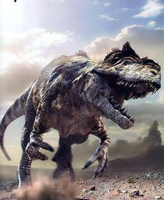 T-Rex dinosaur desert steppe wilderness rough Prehistoric Dinosaurs, Prehistoric World, Jurassic World Dinosaurs, Jurassic Park World, Prehistoric Creatures, Dinosaur Museum, Dinosaur Art, Dinosaur Fossils, Extinct Animals