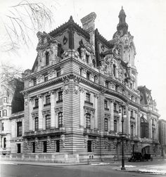 The house of Senator William A. Clark of Montana, on 77th Street and Fifth Avenue where 960 Fifth exists today. Huguette Clark grew up in this house of her father's, and went to Spence.