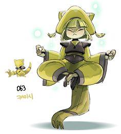 #63. Abra (humanized/gijinka pokemon series by tamtamdi on tumblr)