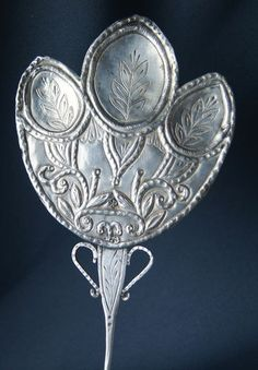 19th C South American Spanish Colonial Silver Tupo Cloak Pin