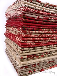 Escape to a French chateau with Espirit de Noel by French General for Moda Fabrics. 8 new bolts of collection along with fat quarters, jelly rolls and layer cakes. This is all I want for Christmas! French General Fabric, French Fabric, Layer Cake Quilts, Layer Cakes, Textiles, Gorgeous Fabrics, Shabby, Fabric Online, Fabric Crafts