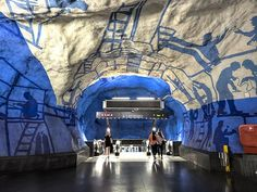 The Ninety Art Galleries of the Stockholm Metro