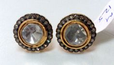 Vintage Diamond polki studs earrings