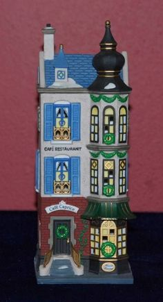 """Dept 56 Christmas In the City """"CAFE CAPRICE FRENCH RESTAURANT"""" #58882 MIB"""
