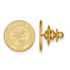 Sterling Silver w/GP LogoArt Appalachian State University Crest Lapel Pin