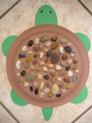 Kids go outside and collect rocks, then they make a turtle shell out of it! This sounds fun!