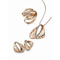 Rhythm of Youth - 18K Rozy Gold White Diamond Jewellery Set - from Frank Wu Design