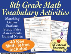 Need an Idea on 8th-9th Grade Math, Vocabulary, and an Essay?