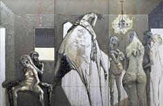 Gaetano Costa La festa - (367x243) poliuretano acrilico ed olio su legno - 2011  polyurethane, acrylic and oil on wood