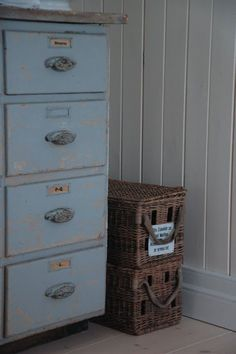 Transform an old dresser into a filing cabinet.
