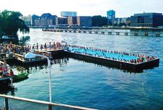 Could an urban beach get any better? Hang out at Badeschiff in Berlin on sweltering hot summer days. Germany Poland, Berlin Germany, Berlin Berlin, Rio, Berlin Photos, Sea Level Rise, Urban Beaches, Swimming Holes, City Beach