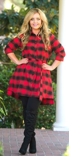 Cliff Hanger Tunic - Red - Perfectly Priscilla Boutique
