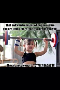 so cute! Let's get more girls weight lifting!