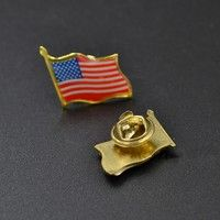 USA American Stars and Stripes Flag /& Argetina Patriotic Lapel Pin Gold Tone Metal
