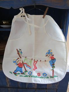 I love it!! So cute! Vintage Cotton Clothes Pin Holder Apron Cute by CozinestHollow, $14.00