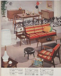 MidCentury Modern Atomic Housewares Furniture by randomretro