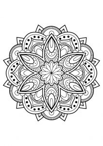 mandala from free coloring book for adults 16
