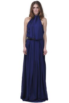 Costume National - Halter neck maxi dress