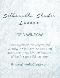 Silhouette Studio Lesson - Grid Window