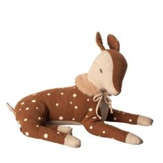 Maileg Cosy Bambi Little girl This soft deer is laying in the most elegant way with its long legs and dotted body. Bambi is wearing a plush collar Size : SmallHeight : 26 cmAge: All agesWashing instruction: 30 degreesMaterial: Cotton / Linen Happy Campers, Scandinavian Kids Toys, Bambi Baby, Baby Comforter, Little Unicorn, Reno, Long Legs, Little Boys, Cuddling