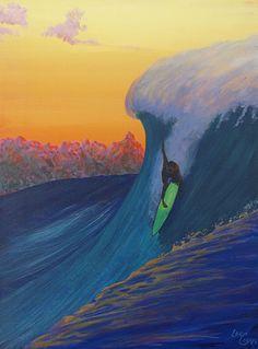 Surf Art - Surf Paintings of Kauai : Lee Clark Fine Art Surf Design, Hawaiian Art, Surfboard Art, Les Cascades, Wave Art, Nautical Art, Surf Art, Sports Art, Ocean Art