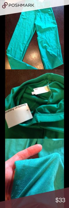 New! AA Aqua green nylon tricot legging💕 New tagged American Apparel Pants Leggings