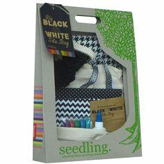 DIY Black and White Tote Bag