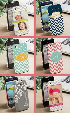 OMG I'm in LOVE with these cell phone case cover designs and colors! Mint and Coral are my fav but I'm loving that navy and mustard yellow case too ... they have tons more - you have to check them out!