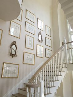 Phoebe Howard design: perfect gallery wall up the stairs!
