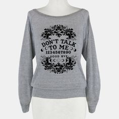 Don't Talk to Me Spirit Board #ouija #ouijaboard #occult #graphictee #donttalktome