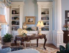 Vero Beach, FL | Marc-Michaels Interior Design, Inc...great way to create an office area.