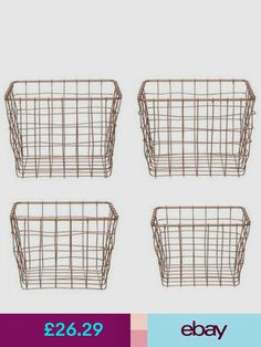Present Time Storage Baskets Furniture & DIY Wire Basket Storage, Wire Storage, Copper, Presents, Diy, Furniture, Do It Yourself, Gifts, Bricolage