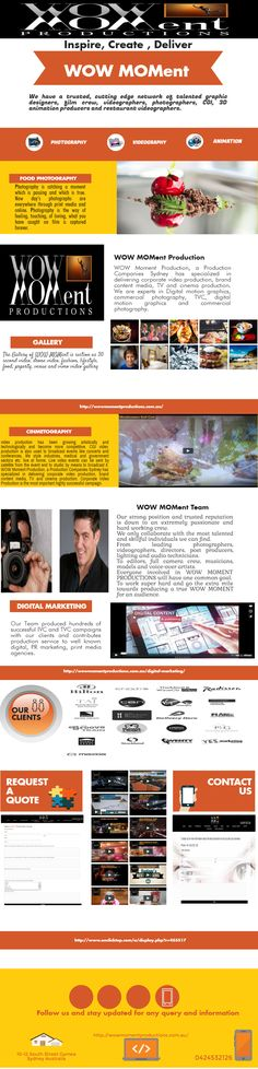 Deal with Wow Moment Productions for the quality corporate video production in Sydney.