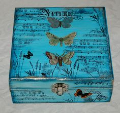 Altered butterfly box - I love this!