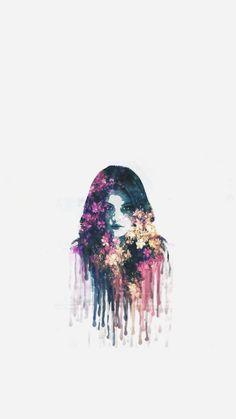 Selena gomez Revival Painting face Wallpaper/Lock Screen