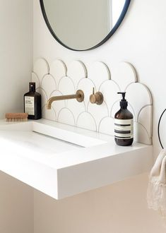 Bathroom Decor modern Our Spaces: Contemporary NZ Interiors Dining Room Design contemporary Interiors spaces Minimal Bathroom, Modern Bathroom, Bathroom Ideas, Bathroom Organization, Bathroom Designs, All White Bathroom, Pictures In Bathroom, Bathroom Storage, Modern Small Bathroom Design