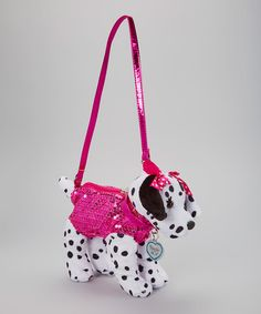 cb1d72590b Look what I found on  zulily! Fuchsia Sequin Dalmatian Purse  zulilyfinds  Dalmatians