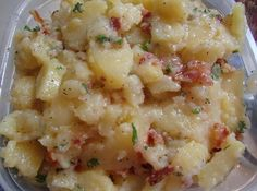 German Potato Salad Recipe. My mom makes this the best! Served hot of course.