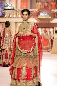 Pakistani bridawal couypur week june2015 #pbw designer #hsy pinned by #sidra younas