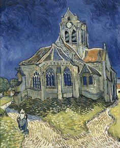 오베르 쉬르 우아즈의 교회(1890) - 반 고흐   첫번째로는, 반박할 수 없는 세계에서 가장 많은 사랑을 받는 화가   그는 그림에 자신의 감정을 담고자 했다고 전해지고, 정신적으로 힘들 때일 수록 그의 마음이 그림에 깊히 투영되었다.  이 그림은 정신적 스트레스가 극에 달아 오베르 쉬르우아즈로 요양왔을 때의 그림이다. 실제 교회를 보면 그냥 한적한 시골의 평화로운 모습인데 반해, 그의 그림엔 억압되고 짓눌러진 위태로운 모습이 보인다.   개인적인 생각으론, 왜곡된 곡선과 터치로 그의 혼란스런 마음을 표현한것 같다. 이런 표현은 그의 죽기전 많은 작품들에서 보인다.