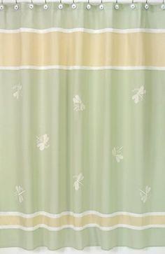 Green Dragonfly Dreams Kids Bathroom Fabric Bath Shower Curtain by Sweet Jojo Designs Sweet Jojo Designs http://www.amazon.com/dp/B003YVOP94/ref=cm_sw_r_pi_dp_uoiYtb0CCZ3A11VK
