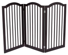 Internet's Best Pet Gate with Arched Top | 3 Panel | 36 Inch Tall Fence | Free Standing Folding Z Shape Indoor Doorway Hall Stairs Dog Puppy Gate | Espresso | Wooden ** Check this awesome image  : Dog gates