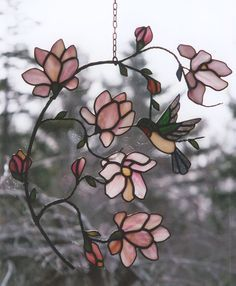 Hummingbird Stained Glass Window | ... special for you and your loved ones. | Tamara's Custom Stained Glass