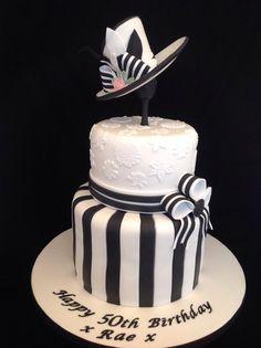 'My Fair Lady' Black and White Cake
