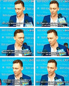 Tom Hiddleston talks about Loki's relationship with Frigga. Loki and Frigga are both adopted in a sense. Frigga is Odin's 2nd wife and not Thor's biological mom. <<<< why didn't you tell me this; where do you know this from?!